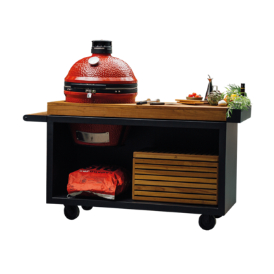 OFYR KAMADO TABLE BLACK PRO TEAK WOOD KJ