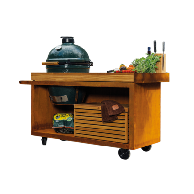 OFYR KAMADO TABLE CORTEN PRO TEAK WOOD BGE KERST DEAL !!!