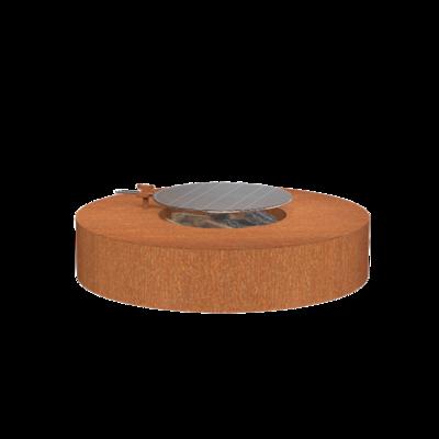 VLS1 + grill vuurtafel cortenstaal Ø125 cm