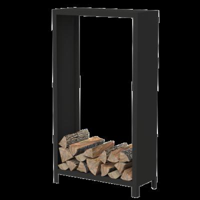 BHG1 houtopslag cortenstaal zwart 100x40x180 cm