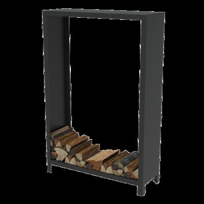 BHG1.1 houtopslag cortenstaal zwart 120x40x180 cm