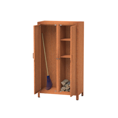 BHS3 houtopslag kast corten 100x50x180 cm