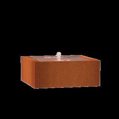 CB12 watertafel 100x100 cm - H40 cm corten
