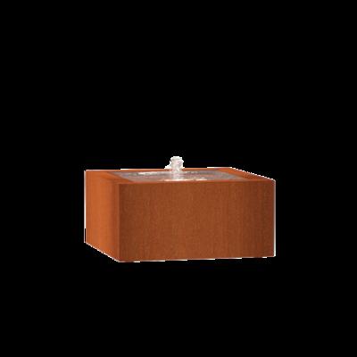 CB13 watertafel 80x80 cm - H40 cm corten