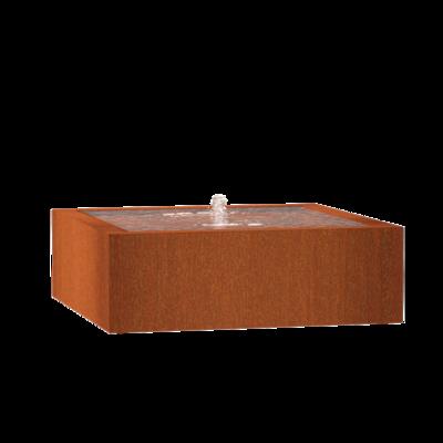 CB11 watertafel 120x120 cm - H40 cm corten