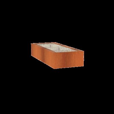 CB5 watertafel 200x80 cm - H40 cm corten
