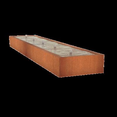 CB2 watertafel 500x100 cm - H40 cm corten